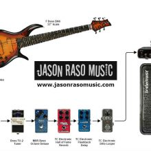 Bass gear diagram and infographic for Jason Raso